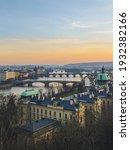 Sunset In Prague From A Hilltop