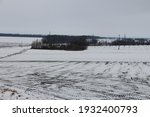 Winter Agricultural Field Under ...