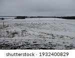 Agricultural Field Under Snow ...