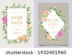 soft watercolor roses wedding... | Shutterstock .eps vector #1932401960