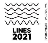 set of wavy  zigzag  horizontal ... | Shutterstock . vector #1932403796