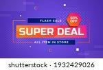 super deal flash sale 50  off... | Shutterstock .eps vector #1932429026