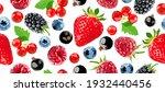 berry vector seamless pattern.... | Shutterstock .eps vector #1932440456