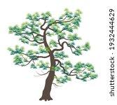 old japanese pine with dark... | Shutterstock .eps vector #1932444629