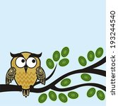 owl vector illustration | Shutterstock .eps vector #193244540