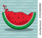 the juicy summer watermelon...   Shutterstock .eps vector #1932480080