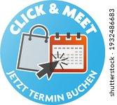 round click and meet sticker... | Shutterstock .eps vector #1932486683