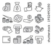 money line icons set on white... | Shutterstock . vector #1932492350