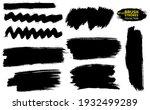 set of vector brush strokes....   Shutterstock .eps vector #1932499289