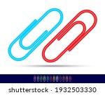 multi colored paper clips close ... | Shutterstock .eps vector #1932503330