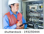 asian indonesian technician or...   Shutterstock . vector #193250444