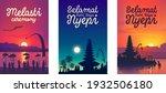 balinese traditional hindu new...   Shutterstock .eps vector #1932506180