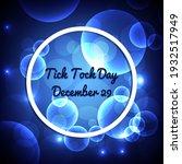 Tick Tock Day. Geometric Wave...