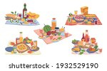 picnic food and drinks  bottle...   Shutterstock .eps vector #1932529190