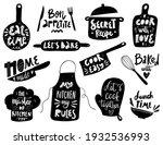 hand written vector cooking... | Shutterstock .eps vector #1932536993