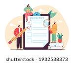 tiny people doing priorities... | Shutterstock .eps vector #1932538373