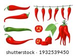 red chili pepper set. spicy...   Shutterstock .eps vector #1932539450