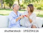 mature couple having an... | Shutterstock . vector #193254116
