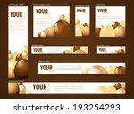 set of  web banners with... | Shutterstock .eps vector #193254293