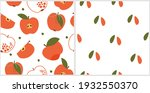 set of seamless pattern with... | Shutterstock .eps vector #1932550370