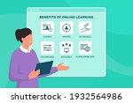 benefits of online learning ... | Shutterstock .eps vector #1932564986
