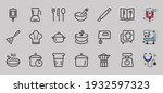 set of icons for cooking and... | Shutterstock .eps vector #1932597323