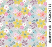abstract floral seamless...   Shutterstock . vector #1932606716