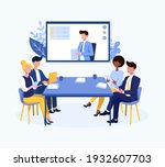 video conference theme and...   Shutterstock .eps vector #1932607703
