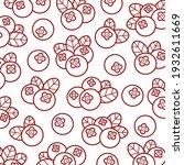 cranberry pattern background... | Shutterstock .eps vector #1932611669