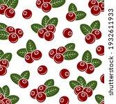 cranberry pattern background... | Shutterstock .eps vector #1932611933