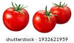 Tomato Isolated. Tomatoes With...