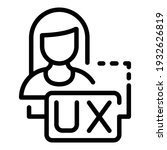 woman ux interaction icon....