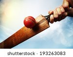 Cricket batsman hitting a ball...