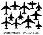 civil passenger and military... | Shutterstock .eps vector #1932641603