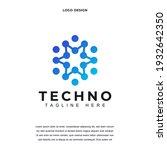 creative technology icon logo... | Shutterstock .eps vector #1932642350