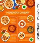moroccan cuisine meals menu...   Shutterstock .eps vector #1932643799