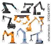 industrial robot manipulators ... | Shutterstock .eps vector #1932643979