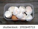 Eggshells In A Plastic...