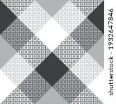 plaid pattern geometric in grey ... | Shutterstock .eps vector #1932647846