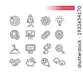 seo line vector icon set.... | Shutterstock .eps vector #1932654170
