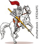 knight with lance and on... | Shutterstock . vector #19326691