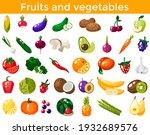 set of fresh healthy vegetables ... | Shutterstock .eps vector #1932689576