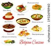 belgian cuisine vector menu... | Shutterstock .eps vector #1932698960