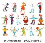 circus clowns  cartoon vector... | Shutterstock .eps vector #1932698969