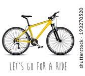 vector mountain bike | Shutterstock .eps vector #193270520