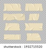 sticky tape with shadow. strip...   Shutterstock .eps vector #1932715520