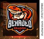 Bearded Dragon Mascot. Esport...