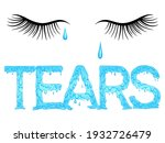 Lettering Dripping Word Tears...