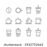 a set of cafe related icon...   Shutterstock .eps vector #1932752663