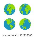 simplified earth globe vector... | Shutterstock .eps vector #1932757580